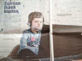 Niklaksen kuva lehtijutusta